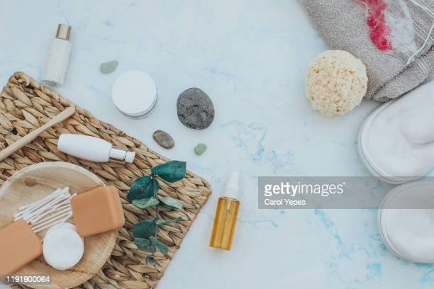 natural cosmetics ingredients for skincare, body and hair care - natürlicher zustand stock-fotos und bilder