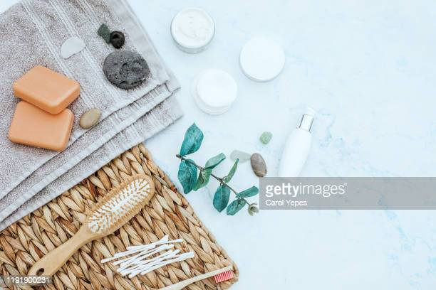 natural cosmetics ingredients for skincare, body and hair care - 美容 ストックフォトと画像