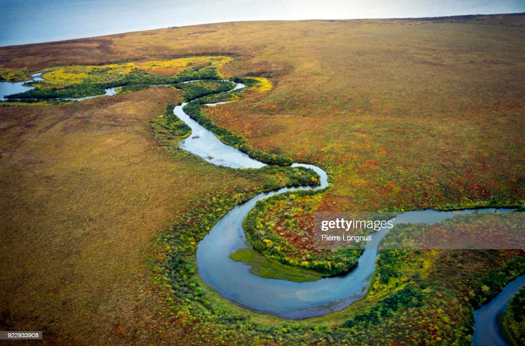 natural curves and turns of the mackenzie river finding its way