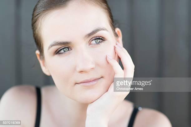Natural Female Summer Beauty Portrait Close-up