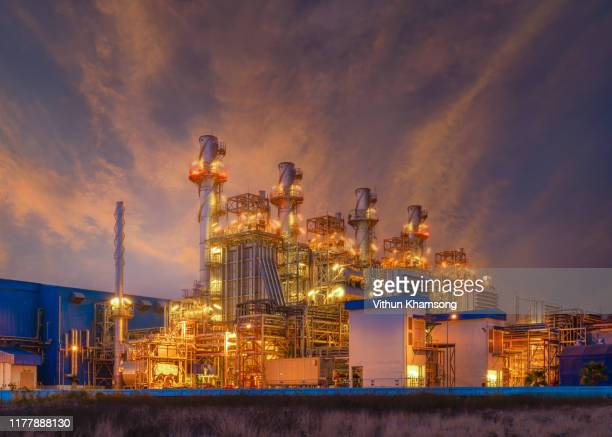 natural gas combined cycle power plant and turbine generator of industry zone. - generator stock pictures, royalty-free photos & images