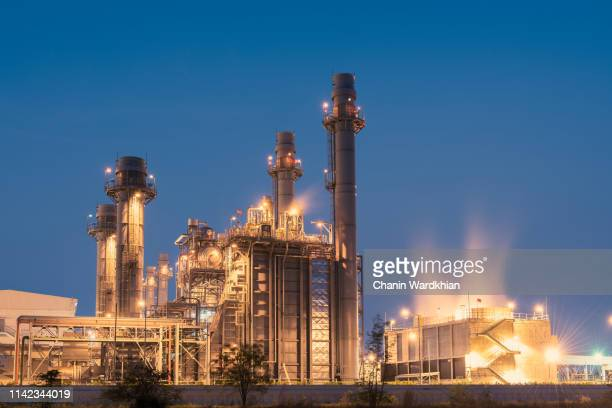 natural gas fired electrical power plant - power station stock pictures, royalty-free photos & images