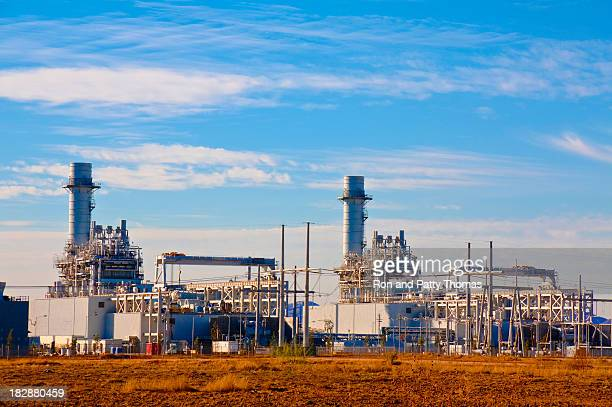 Natural gas fired turbine power plant