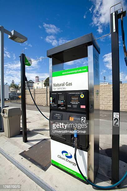 Natural Gas Fueling Station Los Angeles California USA