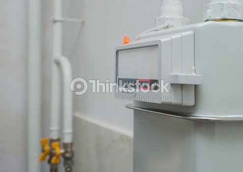 A Natural Gas Meter In The Private House Counter For Distribution Domestic Selective