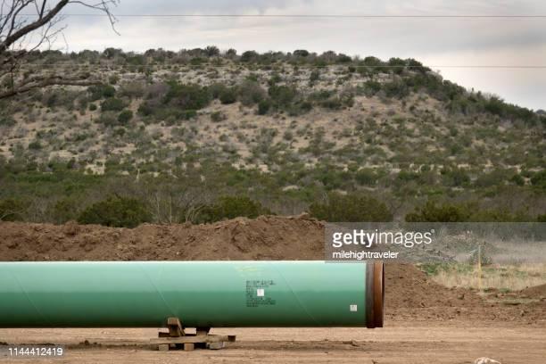 construction de pipelines de gaz naturel crockett county ozona texas gulf coast express - gulf coast states photos et images de collection