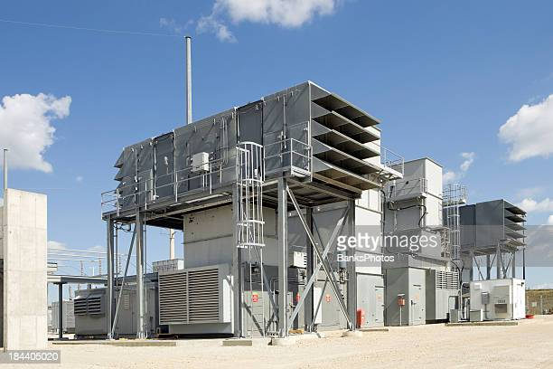 Natural gas powered electrical power plant turbine