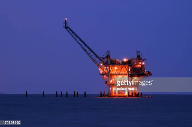 Natural Gas Rig, Night