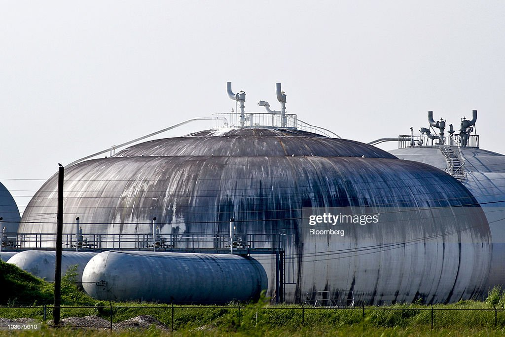 Natural Gas Sits In A Storage Tank At The Henry Processing Plant Refinery