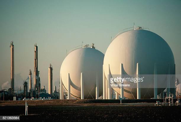 natural gas storage tanks - storage tank - fotografias e filmes do acervo