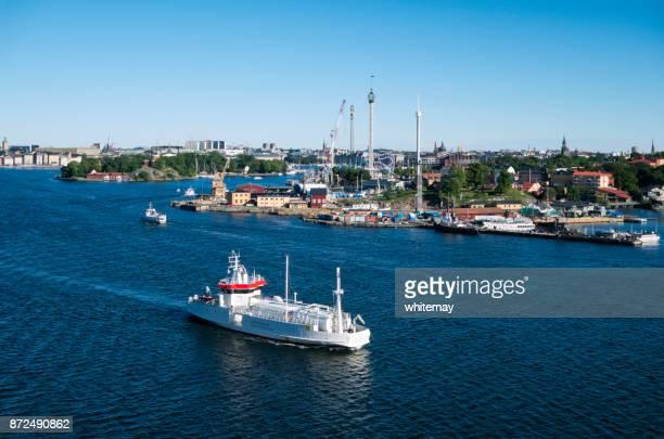 Natural gas tanker in Stockholm harbour