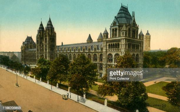 Natural History Museum London circa 1910 The museum building was designed by Sir Alfred Waterhouse and opened to the public in 1881 It houses...