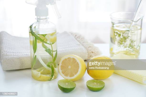 natural homemade cleaner supplies - cleaning agent stock pictures, royalty-free photos & images