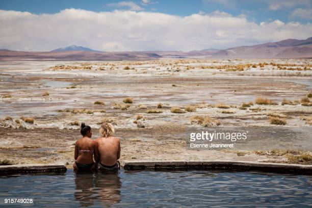 Natural hot water pool, Lipez, Bolivia