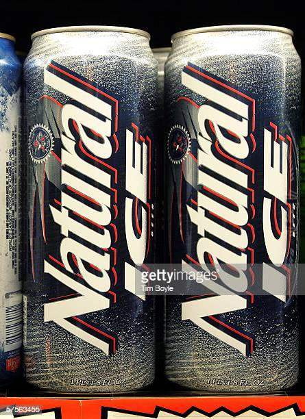 Natural Icebrand beer from AnheuserBusch lies on a cooler's shelf in a grocery store May 9 2006 in Des Plaines Illinois With new flavors and...