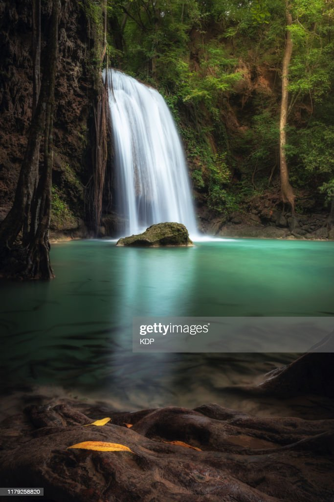 Wall picture from Plexiglas ® pressure on Acrylic 125x50 landscapes Waterfall Thailand