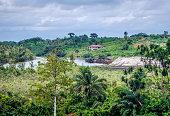 Natural landscape in Liberia, West Africa