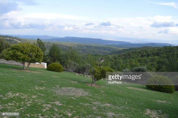 A natural landscape of a mountain and trees is seen on the Gallipoli peninsula in Canakkale Turkey on November 4 2017 ''Turkey is currently ranked...