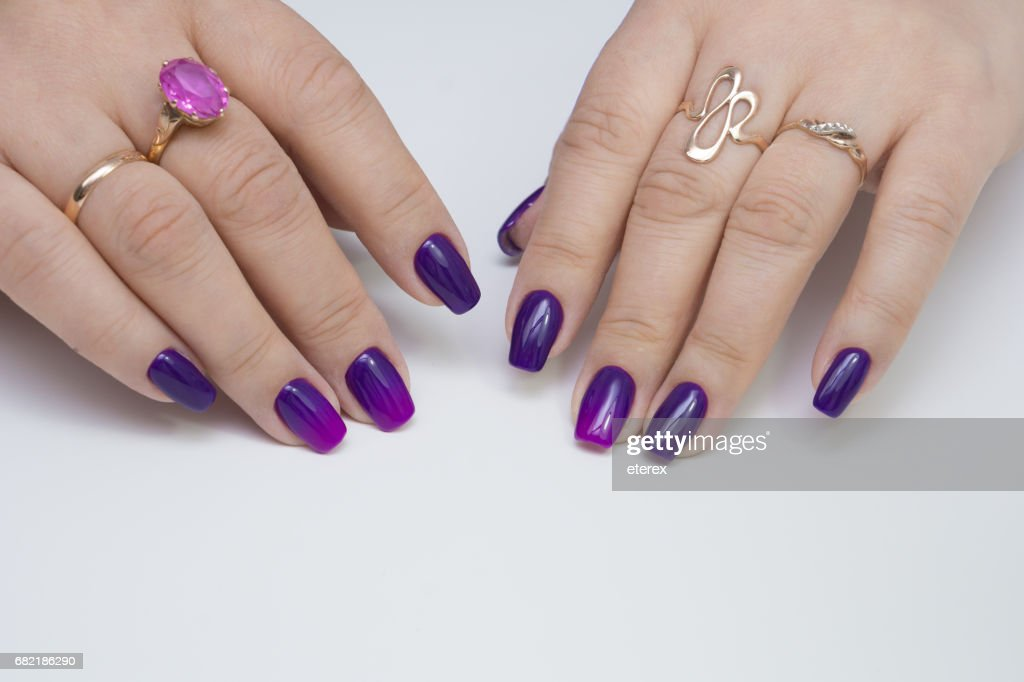 Natural Nails And Amazing Clean Manicure Gel Polish Applied Stock ...