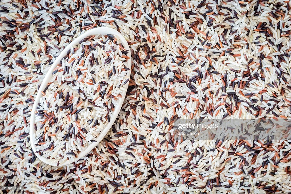 Natural Organic Rice : Stock Photo