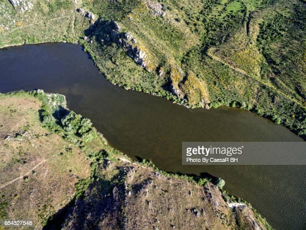 natural park of arribes del duero. zamora. spain. - douro river stock-fotos und bilder