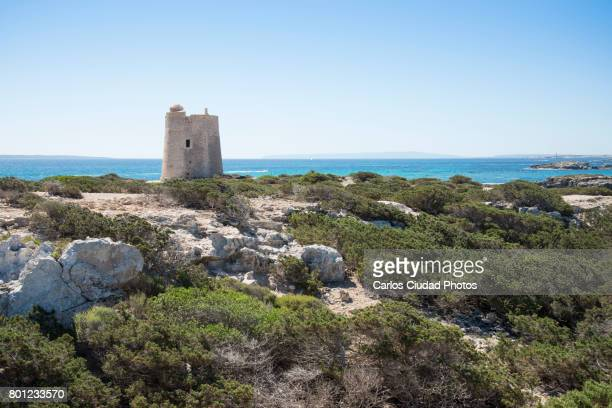 Natural Park of Ses Salines and Ses Portes Tower, Ibiza, Spain