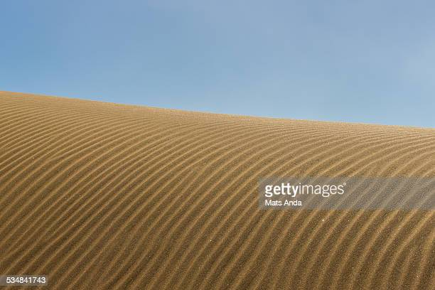 Natural pattern in sand dunes in a desert