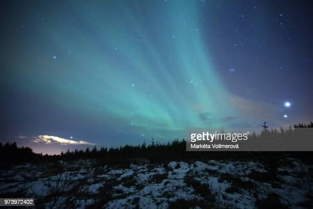 natural phenomenon - aurora borealis in iceland - light natural phenomenon stock photos and pictures