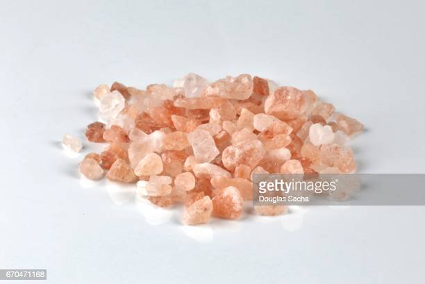 Natural pink colored Himalayan Salt Crystals (Sodium chloride)