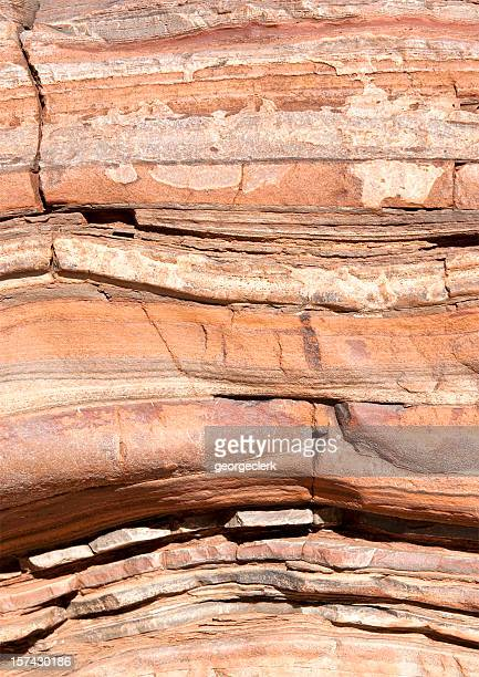 natural rock layers - rock strata stock pictures, royalty-free photos & images