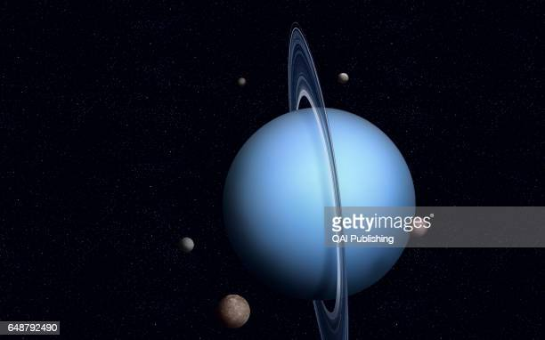 Natural satellite of Uranus Uranus has at least 27 satellites five outer moons 11 small internal moons which were discovered by the Voyager 2 probe...