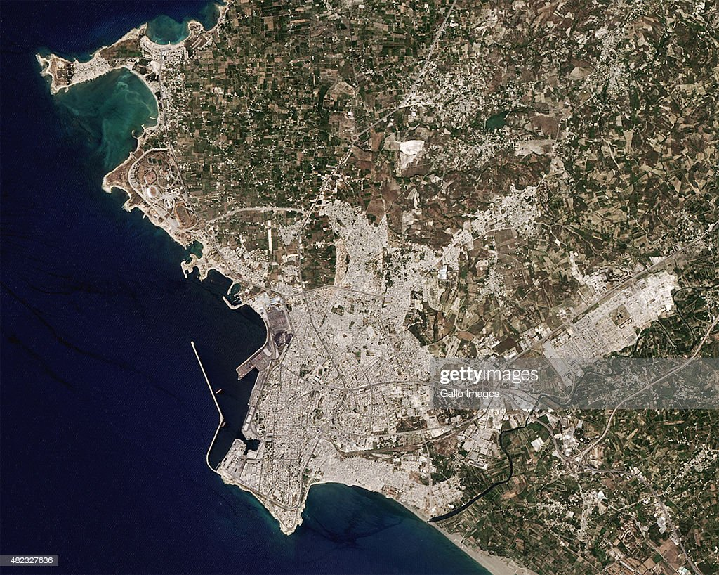 A Satellite View Of Latakia Syria Photos And Images Getty Images - Satellite view