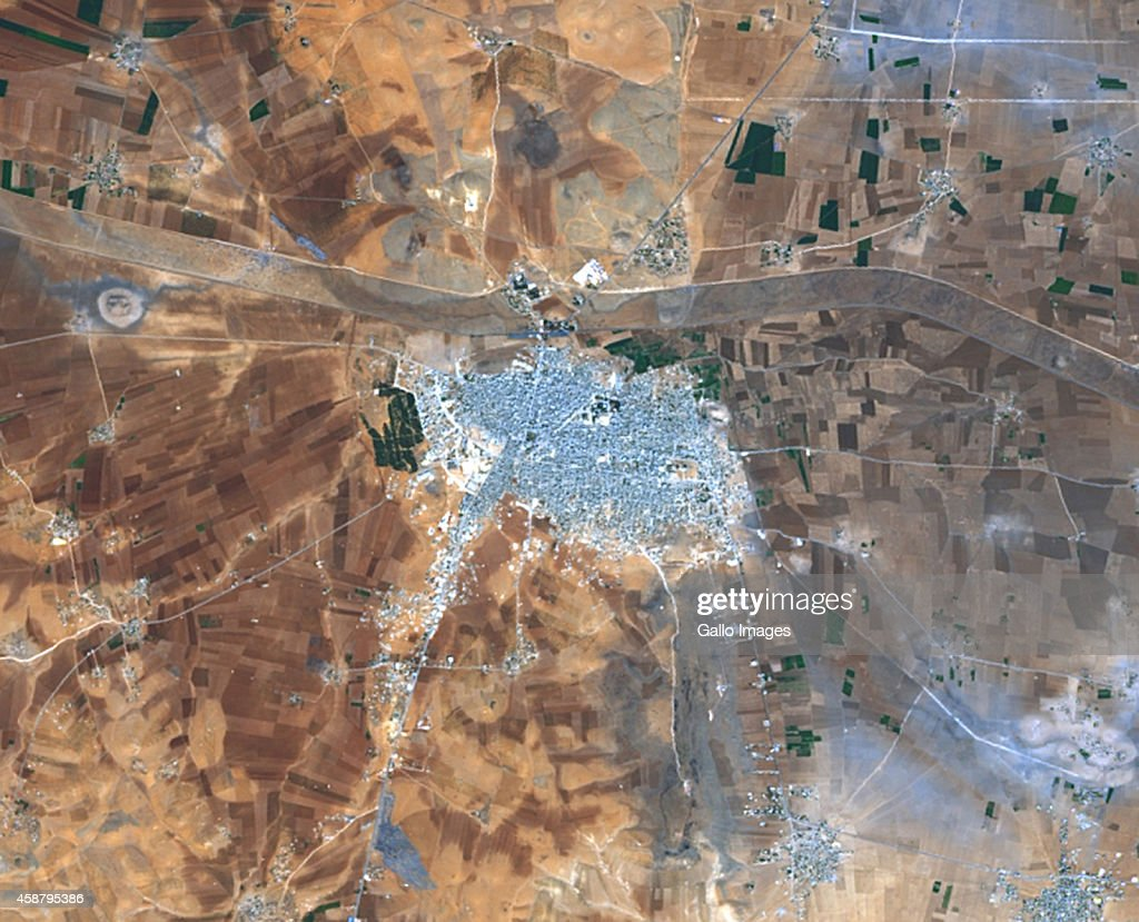 Satellite Views Of Syria Photos And Images Getty Images - World satellite map 2014
