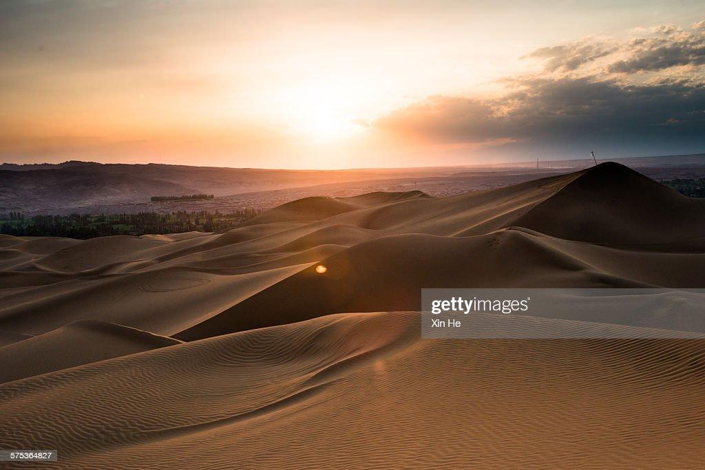 natural scene under the sunset : Stock Photo