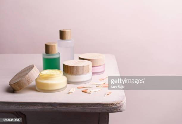 natural skin care products - organic stock pictures, royalty-free photos & images