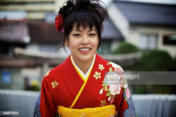 natural smile - yonago stock photos and pictures