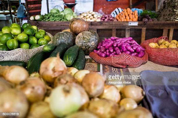 natural vegetables at the market - cali colombia stock pictures, royalty-free photos & images