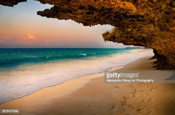 natural window - zanzibar island stock photos and pictures