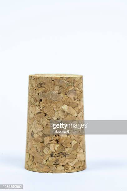 natural wine corks, recycled corks - cork stopper stock pictures, royalty-free photos & images