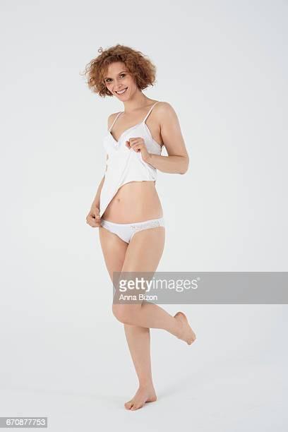 Natural woman likes classic lingerie. Debica, Poland