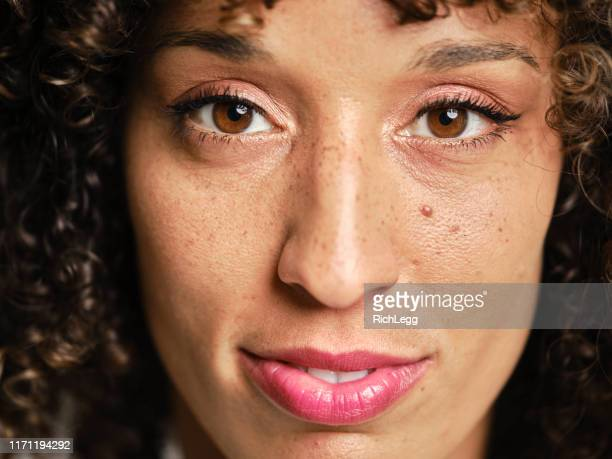 natural woman portrait - extreme close up stock pictures, royalty-free photos & images