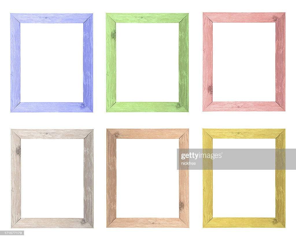 Natural Wood Colored Frames Selection Stock Photo | Getty Images