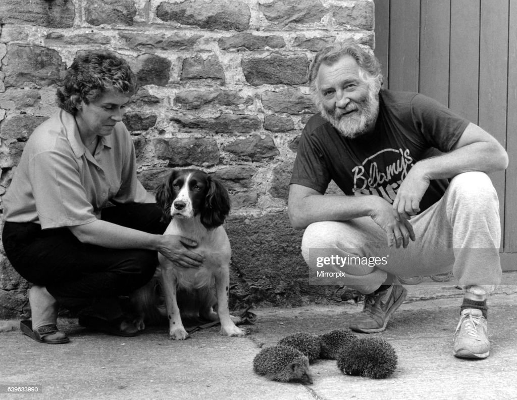 TV naturalist David Bellamy (right) with Judith Foster and her dog Lady on 30th September 1986 : News Photo
