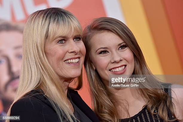 Naturalist Terri Irwin and actress Bindi Irwin arrive at the premiere of Warner Bros Pictures' 'The Nice Guys' at TCL Chinese Theatre on May 10 2016...