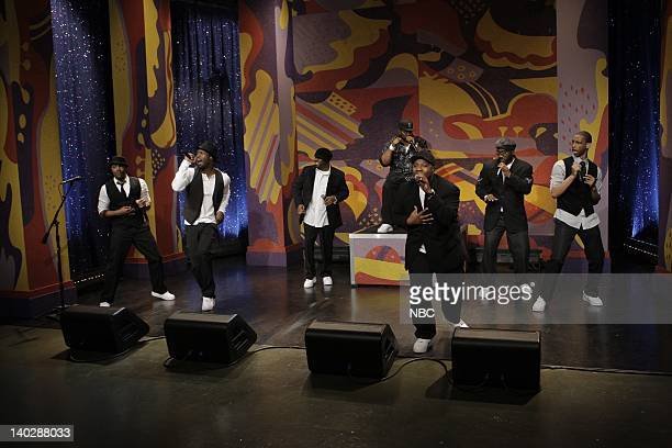 LENO Naturally 7 Air Date Episode 3730 Pictured Musical guests Naturally 7 perform on March 18 2009 Photo by Paul Drinkwater/NBCU Photo Bank