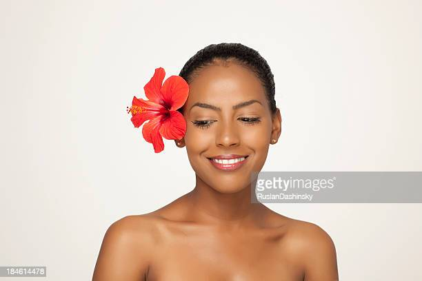 Naturally beautiful woman