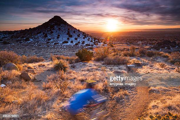 nature adventure - sandia mountains stock photos and pictures