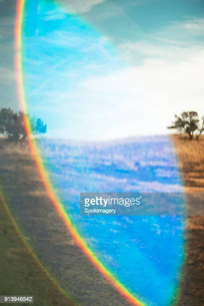 Nature background, lens flare