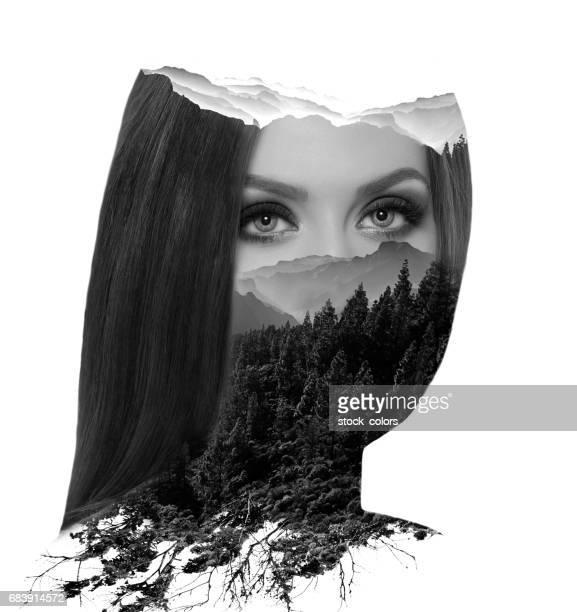 natuurschoon in haar ogen