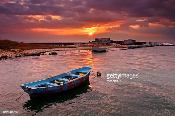 Nature : Bulgaria Blue Boat Sunrise